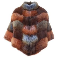 BLANCHA Red fox fur jacket