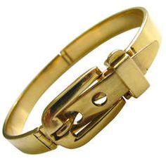 1970s  Gucci Rare Gold Buckle Bracelet