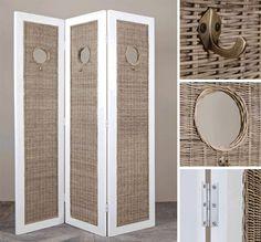 Rustic rattan Room divider | Riviera Maison - De Woonstee Tiel