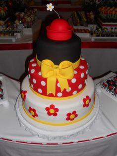 Oh, Natee--Minnie mouse cake! Cute Cakes, Pretty Cakes, Beautiful Cakes, Amazing Cakes, Minnie Birthday, 2nd Birthday, Birthday Ideas, Birthday Cakes, Disney Cakes