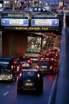 The most traffic congested cities in the world. First place Brussels, Belgium