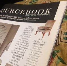 'An Elegant Addition'. Our Lydia chair featuring in this month's House and Garden UK magazine. Uk Magazines, Storage Solutions, Personalized Items, Elegant, Chair, Garden, How To Make, House, Furniture