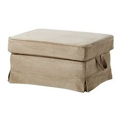 EKTORP Footstool - Vellinge beige - IKEA bench for the end of the bed?  Would need two