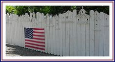 Birdhouse Fence With USA Flag