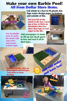 How To Make A Doll Pool With Real Water Ucreate Pinterest