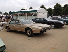 """If you're unfamiliar with the Lagonda, no, this photo isn't squished. The car's edges are just that razor sharp. For years, this car was known simply as """"that one time Aston Martin made a crazy-ass four door.""""   The Most '80s Cars of the 1980s"""