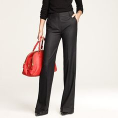 I would wear this whole thing -- wide-legged pants, black turtleneck, fruit punch bag... Totally me.