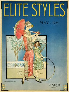myvintagevogue:  Elite Styles May 1924