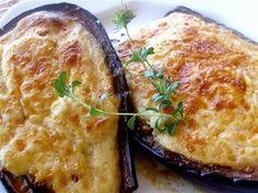 Μελιτζάνες Παπουτσάκια || Stuffed Eggplants (known as Papoutsakia) Greek Recipes, Veggie Recipes, Dinner Recipes, Healthy Recipes, Greek Cooking, Cooking 101, Cooking Recipes, The Kitchen Food Network, Organic Recipes