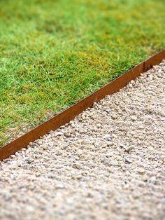 Corten Steel Straight Garden Edging by Adezz Landscape Design, Garden Design, Yard Edging, Steel Edging, Driveway Landscaping, Landscaping Ideas, Corten Steel, Exterior, Green Life