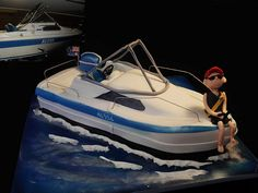 36050 boat replica CREATIVE CAKE ART SPORTS CAKE | by www.creativecakeart.com.au