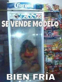 Se vendé modelo bien fría... lmbo that's a good one . http://www.gorditosenlucha.com/