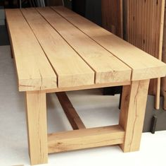 nl- www.nl www. Diy Outdoor Table, Patio Table, Dining Room Table, Woodworking Projects Diy, Woodworking Furniture, Wood Furniture, Diy House Projects, Wood Projects, Diy Tisch