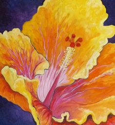 """Hibiscuss"" by artist #kellythompsonfineart"