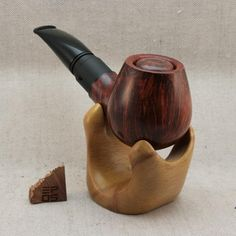 E-pipe handcrafted out of Algerian briar, equipped with Vandy Vape Berserker RDA and powered by one 18350 Li-ion cell. E Pipe, Cigars, Vape, Smoke, Smoking Pipes, Electronic Cigarette, Cigar, Vaping, Smoking