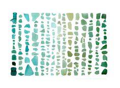 Seaglass+Spectrum+Aquamarine+to+Emerald++8+x+10+by+QuercusDesign,+$20.00