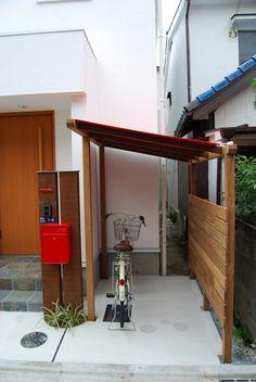 Bike Storage Apartment, Outdoor Bike Storage, Wooden Gazebo, Outdoor Bathrooms, Bike Shed, House Deck, Lean To, Motorcycle Garage, Shed Plans