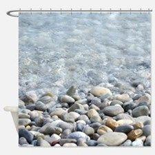 Ocean pebbles Shower Curtain for