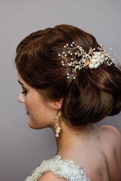 6,12 Stück Curlies Haarschmuck Strass Hochzeit Braut Kommunion Taufe 3