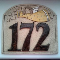 #keramika #ceramics #172 Ceramic House Numbers, Ceramic Houses, Pottery, Clay, Ceramics, Instagram Posts, Crafts, Decor, Scrappy Quilts
