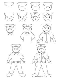 dessin policier