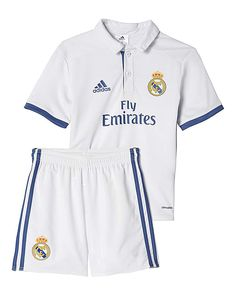 Real Madrid Mini Boys Home Kit Boys Football Mini Kit Modelled after the one Real Madrid wore in 1902. This kids football mini kit links back to the original home kit los Blancos wore in 1902. Made with breathable climalite® fabric http://www.MightGet.com/january-2017-13/real-madrid-mini-boys-home-kit.asp