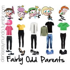 Fairly Odd Parents the fairly oddparents costumes . Cute Group Halloween Costumes, Halloween Kostüm, Halloween Outfits, Disney Group Costumes, Teacher Costumes, Vintage Halloween, Halloween Makeup, Cartoon Outfits, 90s Cartoon Costumes