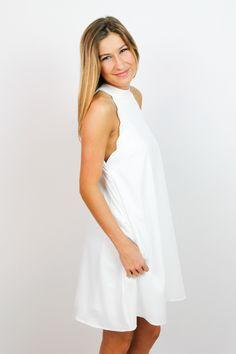 White Scallop Dress  $ 68.00