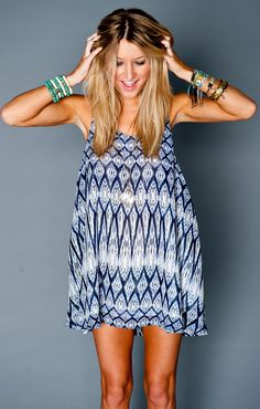 Montauk Tent Dress ~ Diamond Waterfall ~ Show Me Your Mumu