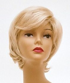 Short Platinum Blonde Wig - Quality Kanekalon Synthetic Hair Loss Replacement Natural Looking Fashion for Ladies & Girls by Wigs Discount Outlet. $59.95. No pins or tape required. Cool, Comfortable & Light Weight for All Day Wear. No Frizzing on Rainy & Humid Days * Look Years Younger. Fits Average size Head with adjustable straps. Instantly Change Hair Style and Color. *You will be amazed by the quality. Wearing it, it can bring you more confidence, and more co...