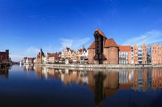 Gdańsk, Crane over the Motława River. Poland