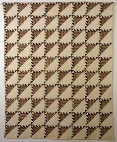 Sawtooth Quilt: Circa 1840; Pennsylvania