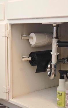 10. Under-the-sink Trash Bags | Space Saving Ideas For Your Studio Apartment