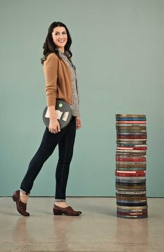 Kendi of style blog Kendi Everyday, wearing our vintage-inspired Fossil Skye Shirt Meredith Cardigan.