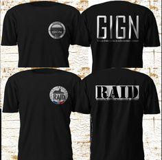 New Unit GIGN RAID Special Elite Force France Firearm Army Police Black T SHirt #Gildan #GraphicTee