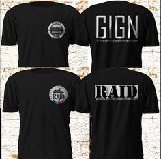 New Unit GIGN RAID Special Elite Force France Firearm Army Police Black T SHirt #Gildan #GraphicTee
