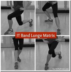 Get stronger and prevent knee pain with the IT band Lunge Matrix