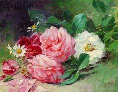 Albert Tibulle Furcy de Lavault Mixed Spring Flowers 19th century