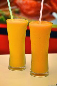 Manggo lassi and mango juice