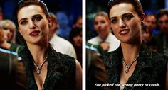 """""""You picked the wrong party to crash"""" - Lena Luthor #Supergirl"""