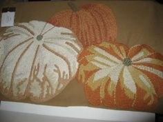 Pottery Barn Embroidered Pumpkin Pillow Cover (New with tags)