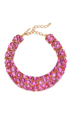 Shop Cabochon Collar Necklace by Oscar de la Renta Now Available on Moda Operandi