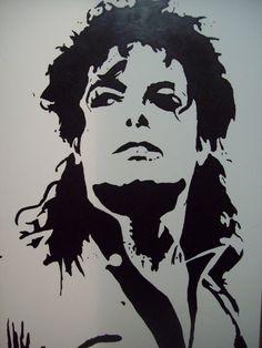 Michael Jackson Stencil III by tresbigdog