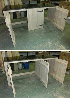 Keukenblok steigerhout