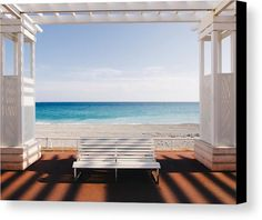 Window To The Sea Canvas Print by Paco Palazon.  All canvas prints are professionally printed, assembled, and shipped within 3 - 4 business days and delivered ready-to-hang on your wall. Choose from multiple print sizes, border colors, and canvas materials.
