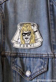 Garth Algar FOXY Embroidered Patch/Brooch by LeighLaLovesYou