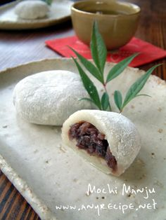 How to Make Mochi Manju, Anko-filled Mochi, Red Bean Manju, Japanese Dessert Recipe