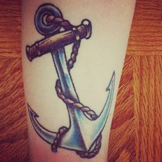My traditional old school anchor tattoo. #anchor #tattoo #oldschool #nautical