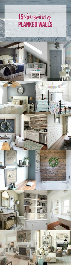 15 Inspiring Planked Walls - Happily Ever After, Etc.