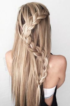 Best Hairstyles for Long Straight Hair to Copy Immediately ★ See more: http://lovehairstyles.com/best-hairstyles-for-long-straight-hair/ #PromHairstylesStraight